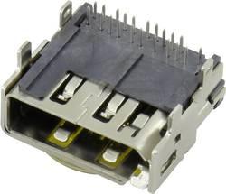 Vestavná horizontální zásuvka HDMI a Display port Conrad Components, 19 pólů, 1 ks