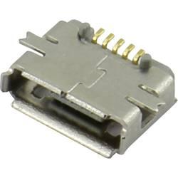 Image of Micro USB Einbaubuchse Buchse, Einbau horizontal 207A-ABA0-R Micro USB Einbaubuchse TYP AB 207A-ABA0-R Attend Inhalt: 1