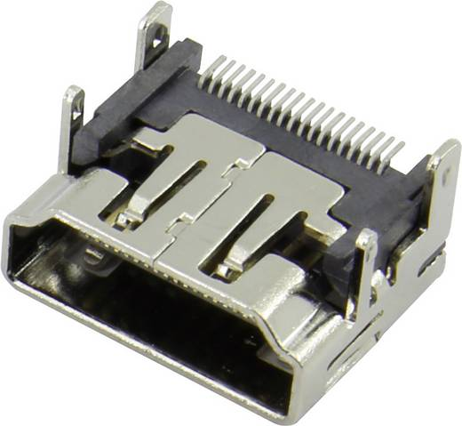 HDMI-Steckverbinder Buchse, Einbau horizontal Silber Attend 206A-SEAN-R03 1 St.