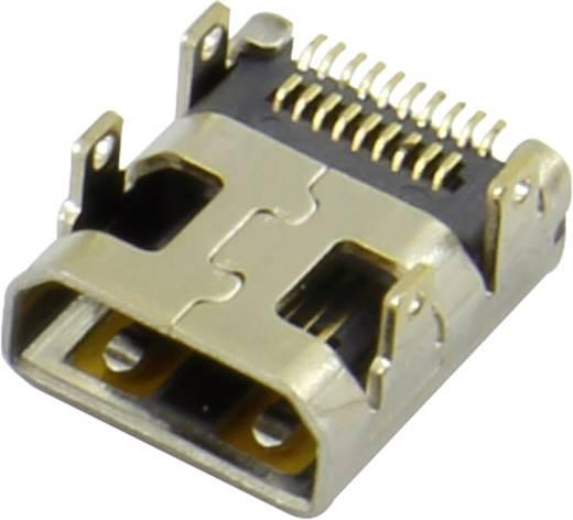 HDMI-Steckverbinder Buchse, Einbau horizontal Silber Attend 206H-SDAN-R01 1 St.