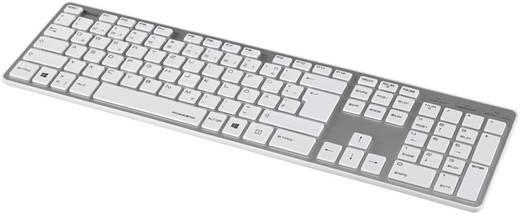 "USB-Tastatur Hama ""Rossano"" Silber/Weiß"
