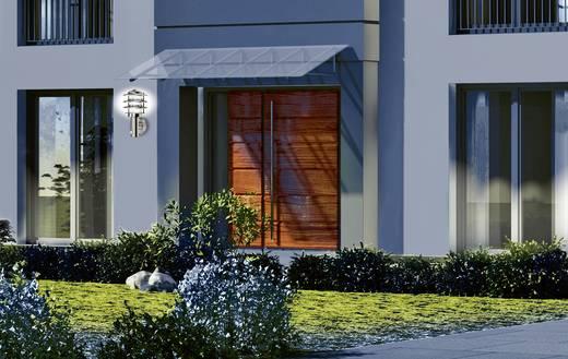 Außenwandleuchte mit Bewegungsmelder Energiesparlampe, LED E27 60 W GEV 021686 Edelstahl