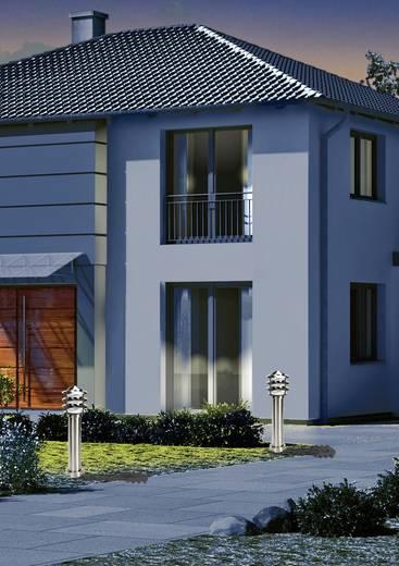 Außenstandleuchte mit Bewegungsmelder Energiesparlampe E27 60 W GEV 021693 Edelstahl