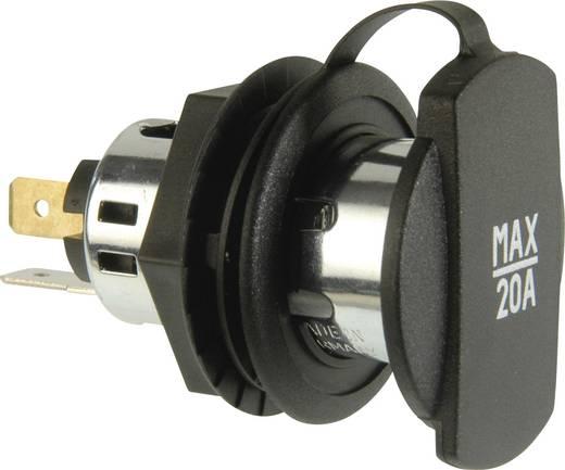 ProCar Power-Steckdose mit Spannhülse schwarz Belastbarkeit Strom max.=20 A Passend für (Details) Zigarettenanzünderstec