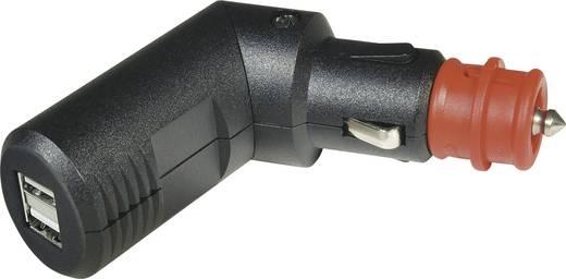 ProCar Winkelbarer 2fach USB Ladestecker Belastbarkeit Strom max.=5 A Passend für (Details) USB-A