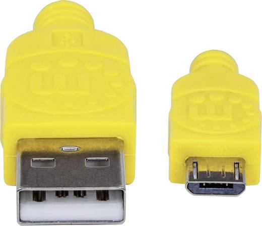 USB 2.0 Kabel [1x USB 2.0 Stecker A - 1x USB 2.0 Stecker Micro-B] 1.8 m Grün-Gelb vergoldete Steckkontakte, Stoff-Ummant