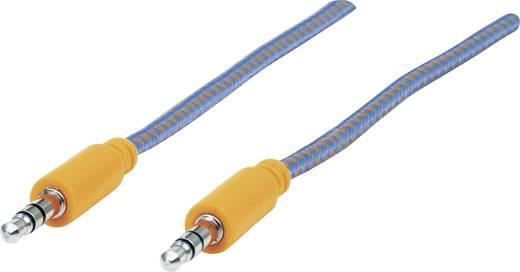 Klinke Audio Anschlusskabel [1x Klinkenstecker 3.5 mm - 1x Klinkenstecker 3.5 mm] 1 m Blau, Orange vergoldete Steckkonta