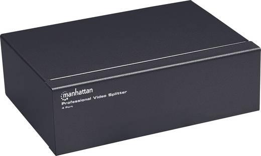 4 Port SVGA-Splitter Manhattan 207348 Metallgehäuse 1920 x 1440 Pixel Schwarz