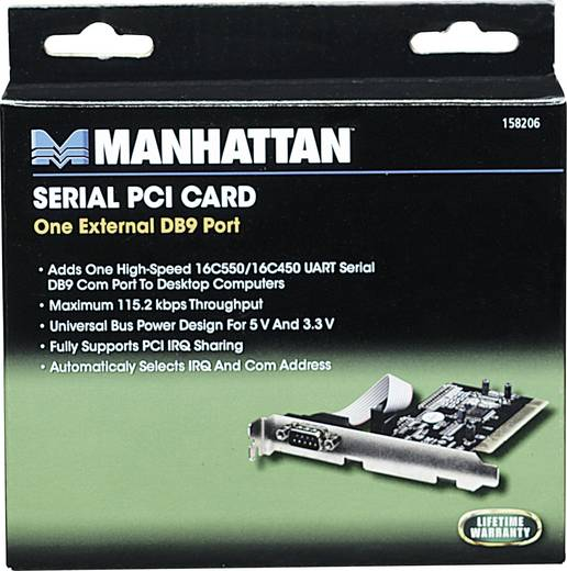 1 Port Serielle Steckkarte PCI Manhattan