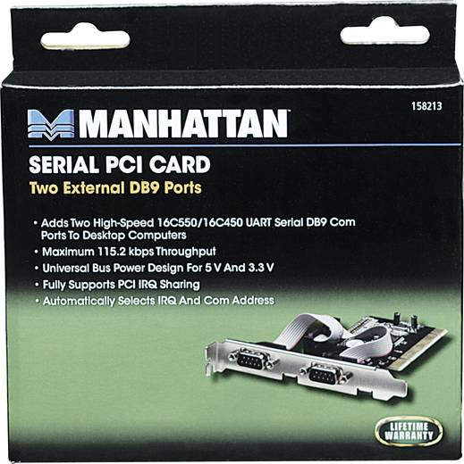 2 Port Serielle Steckkarte PCI Manhattan