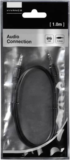 Klinke Audio Anschlusskabel [1x Klinkenstecker 3.5 mm - 1x Klinkenstecker 3.5 mm] 1 m Schwarz Vivanco
