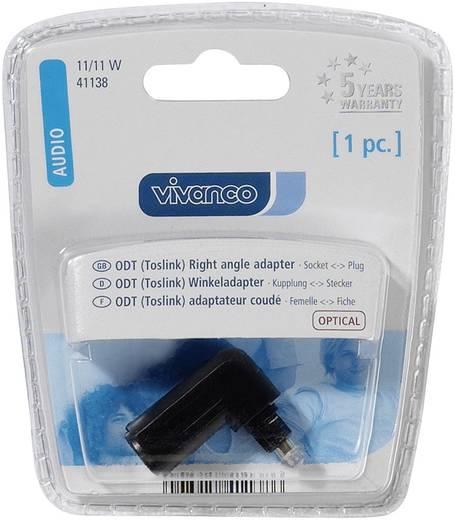 Toslink Digital-Audio Adapter [1x Toslink-Stecker (ODT) - 1x Toslink-Stecker (ODT)] 0 m Schwarz Vivanco
