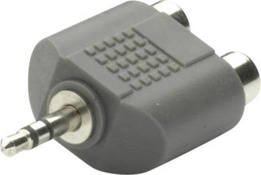 Klinke Audio Adapter [1x Klinkenstecker 3.5 mm - 2x Cinch-Buchse] Schwarz Vivanco