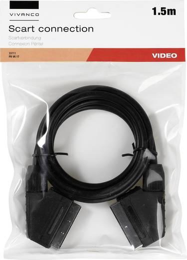 SCART TV, Receiver Anschlusskabel [1x SCART-Stecker - 1x SCART-Stecker] 1.50 m Schwarz Vivanco