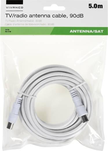 Antennen, SAT Anschlusskabel [1x Antennenstecker 75 Ω - 1x Antennenbuchse 75 Ω] 5 m 90 dB Weiß Vivanco