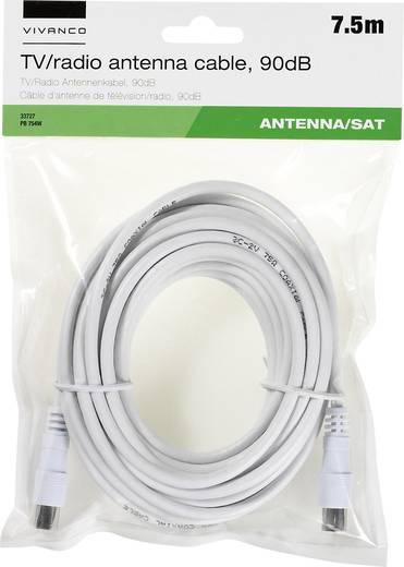 Antennen, SAT Anschlusskabel [1x Antennenstecker 75 Ω - 1x Antennenbuchse 75 Ω] 7.50 m 90 dB Weiß Vivanco