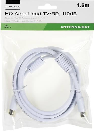 Antennen, SAT Anschlusskabel [1x Antennenbuchse 75 Ω - 1x Antennenstecker 75 Ω] 1.50 m 110 dB mit Ferritkern, vergoldete