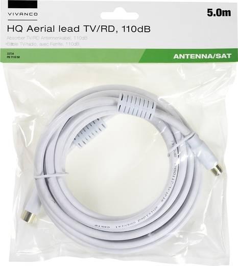Antennen, SAT Anschlusskabel [1x Antennenbuchse 75 Ω - 1x Antennenstecker 75 Ω] 5 m 110 dB mit Ferritkern, vergoldete St