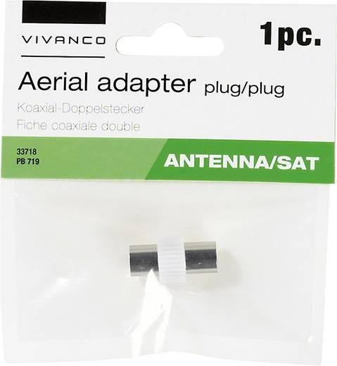 Vivanco Koaxial-Doppelstecker Antenne Adapter