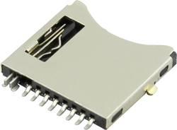 Support de carte microSD Attend 112I-TDAR-R à pousser, à pousser 1 pc(s)