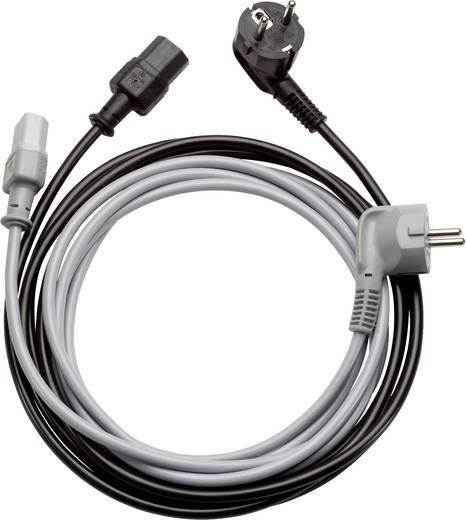 Kaltgeräte Anschlusskabel [ Schutzkontakt-Winkelstecker - Kaltgeräte-Buchse C13] Grau 5 m LappKabel 73222381