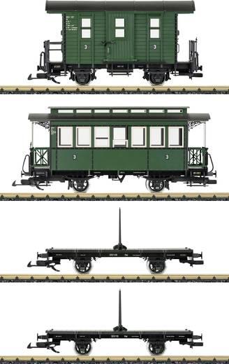 LGB L49390 G 4er-Set Güterwagen mit Personenbeförderung