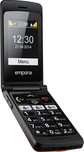 Emporia FlipBasic Senioren-Handy Rot