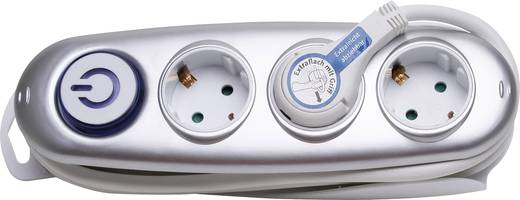 Steckdosenleiste mit Schalter 3fach Silber Schutzkontakt Kopp 120720019