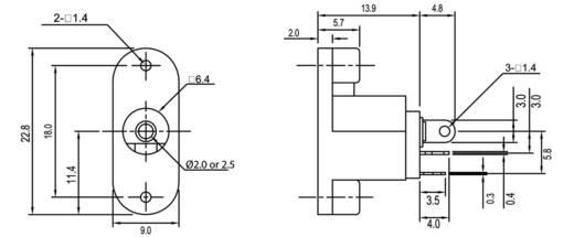 Niedervolt-Steckverbinder Buchse, Einbau vertikal 2 mm econ connect DC17JD20 1 St.