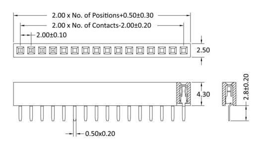 Buchsenleiste (Standard) Anzahl Reihen: 1 Polzahl je Reihe: 12 econ connect FHS43S12G 1 St.