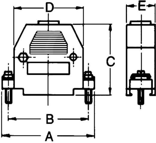 D-SUB Gehäuse Polzahl: 9 Kunststoff 180 ° Grau econ connect PH9 1 St.