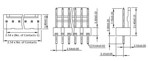 Stiftleiste (Standard) Polzahl Gesamt 3 econ connect PSL3G Rastermaß: 2.54 mm 1 St.