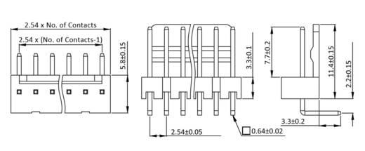 Stiftleiste (Standard) Polzahl Gesamt 8 econ connect PSL8W Rastermaß: 2.54 mm 1 St.