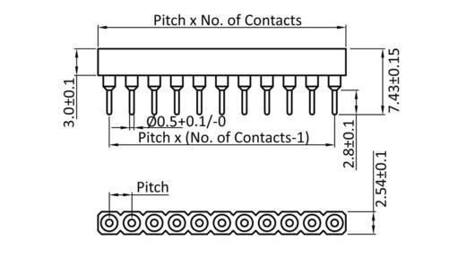 Buchsenleiste (Präzision) Anzahl Reihen: 1 Polzahl je Reihe: 2 econ connect SCS2AA3 1 St.