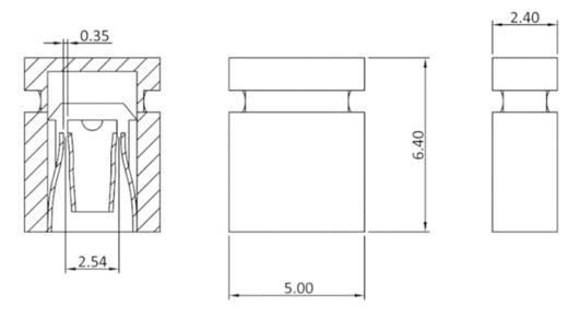 Kurzschlussbrücke Rastermaß: 2.54 mm Polzahl je Reihe:2 econ connect SHBLG Inhalt: 1 St.