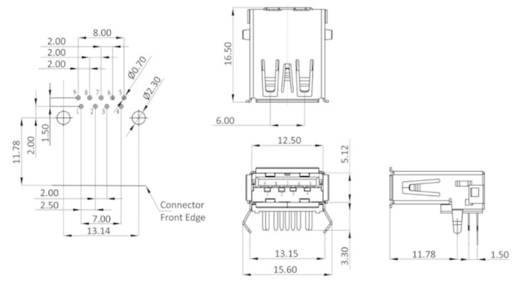 Einbaubuchse Bauform A USB 3.0 Buchse, Einbau horizontal U3BU1AN 1 Port econ connect Inhalt: 1 St.