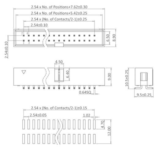 Stiftleiste (Standard) WT econ connect WT10GSS Rastermaß: 2.54 mm 1 St.