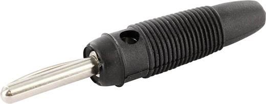 Laborstecker Stecker, gerade Stift-Ø: 4 mm Schwarz econ connect LAS4SWE 1 St.