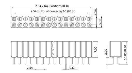 Buchsenleiste (Präzision) Anzahl Reihen: 2 Polzahl je Reihe: 5 econ connect MP70D10 1 St.