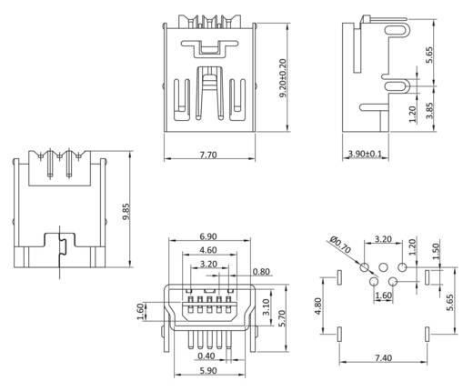 Kontaktbuchse Buchse, Einbau horizontal MUB1B5W 1 Port econ connect Inhalt: 1 St.