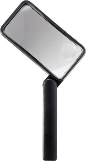 Handlupe Vergrößerungsfaktor: 2 x, 4 x Linsengröße: (L x B) 100 mm x 50 mm Schwarz TOOLCRAFT 1311522