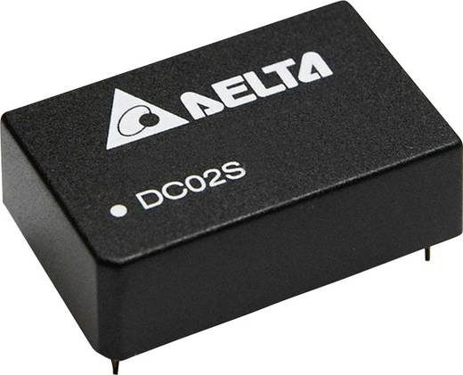 Delta Electronics DC02D2415A DC/DC-Wandler, Print 15 V/DC, -15 V/DC 66 mA 2 W Anzahl Ausgänge: 2 x