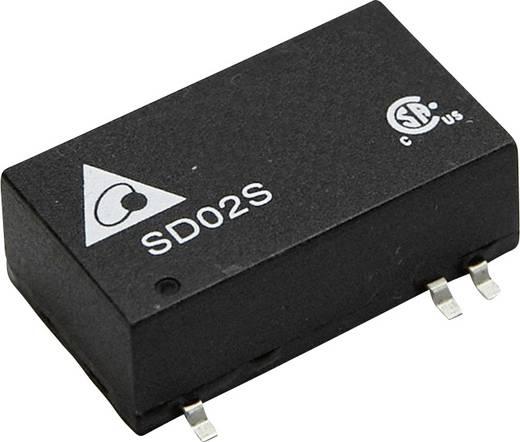 DC/DC-Wandler, SMD Delta Electronics SD02D2412A 12 V/DC, -12 V/DC 83 mA 2 W Anzahl Ausgänge: 2 x