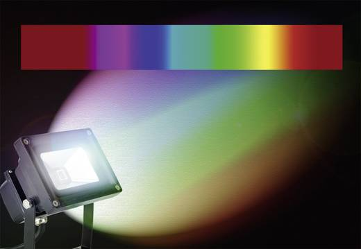 LED-Außenstrahler 10 W RGB X4-LIFE 701455 Grau