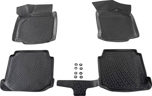 Fußmatte (fahrzeugspezifisch) Citroen C3 TPE (Geruchneutrales Spezialgummigemisch) Schwarz DINO 136016