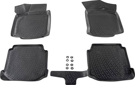 Fußmatte (fahrzeugspezifisch) Ford Focus TPE (Geruchneutrales Spezialgummigemisch) Schwarz DINO 136025