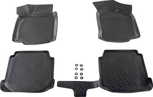Fußmatte (fahrzeugspezifisch) Volkswagen Golf 7 TPE (Geruchneutrales Spezialgummigemisch) Schwarz DINO 136076