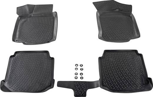Fußmatte (fahrzeugspezifisch) Volkswagen Passat TPE (Geruchneutrales Spezialgummigemisch) Schwarz DINO 136080