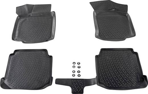 Fußmatte (fahrzeugspezifisch) Volkswagen Tiguan TPE (Geruchneutrales Spezialgummigemisch) Schwarz DINO 136084