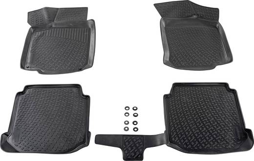 Fußmatte (fahrzeugspezifisch) Volkswagen Jetta TPE (Geruchneutrales Spezialgummigemisch) Schwarz DINO 136077